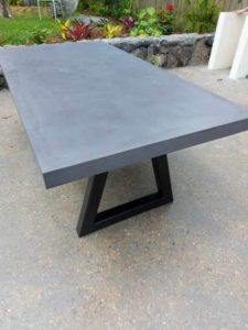 Cloudy Grey Outdoor Table