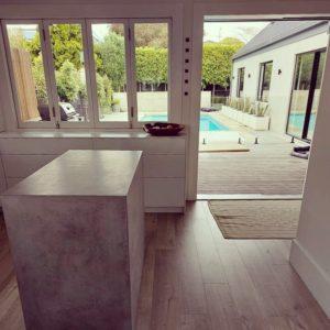 concrete kitchen benchtop