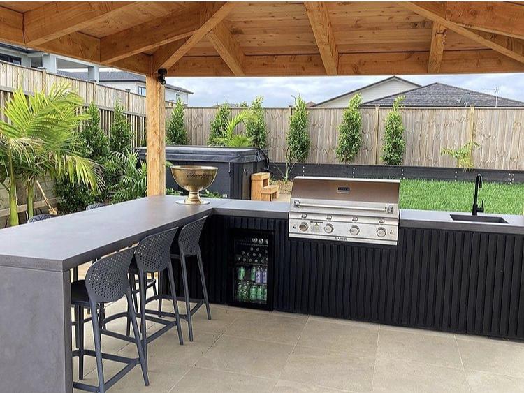 outdoor kitchen benchtop
